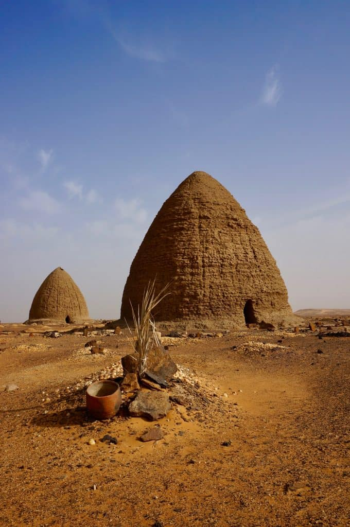 A top Sudan tourist attraction are the Muslim tombs at Old Dongola