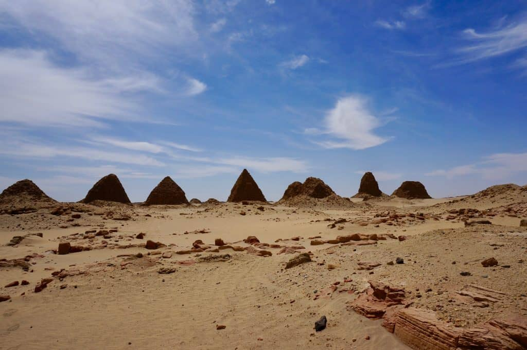 Empty archaeological sights are common during a visit to Sudan