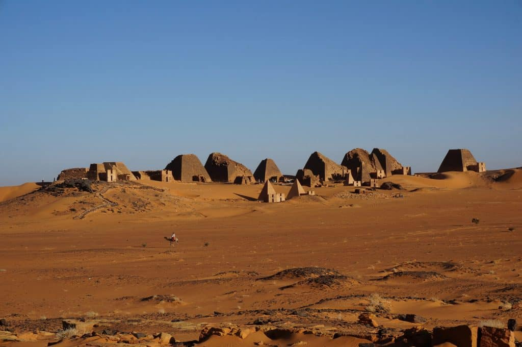 The Meroe pyramids is a highlight on a visit to Sudan