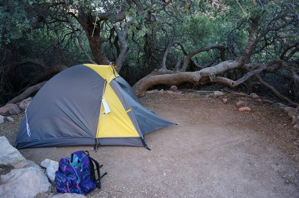 Our campsite at Cottonwood campground