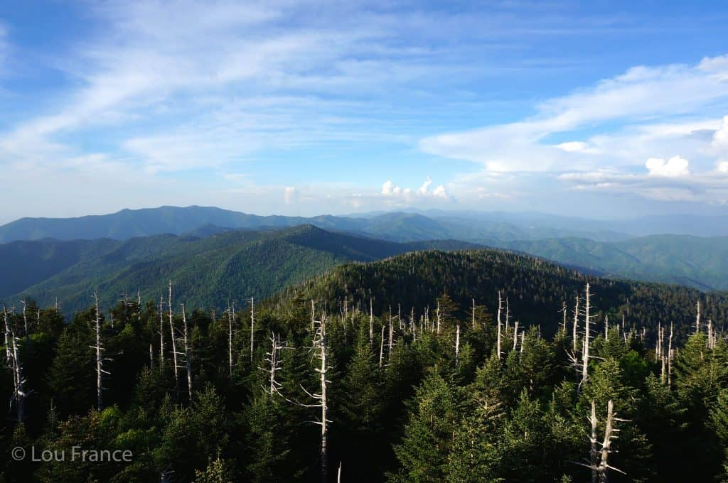 Smokey mountains on one of my American road trips
