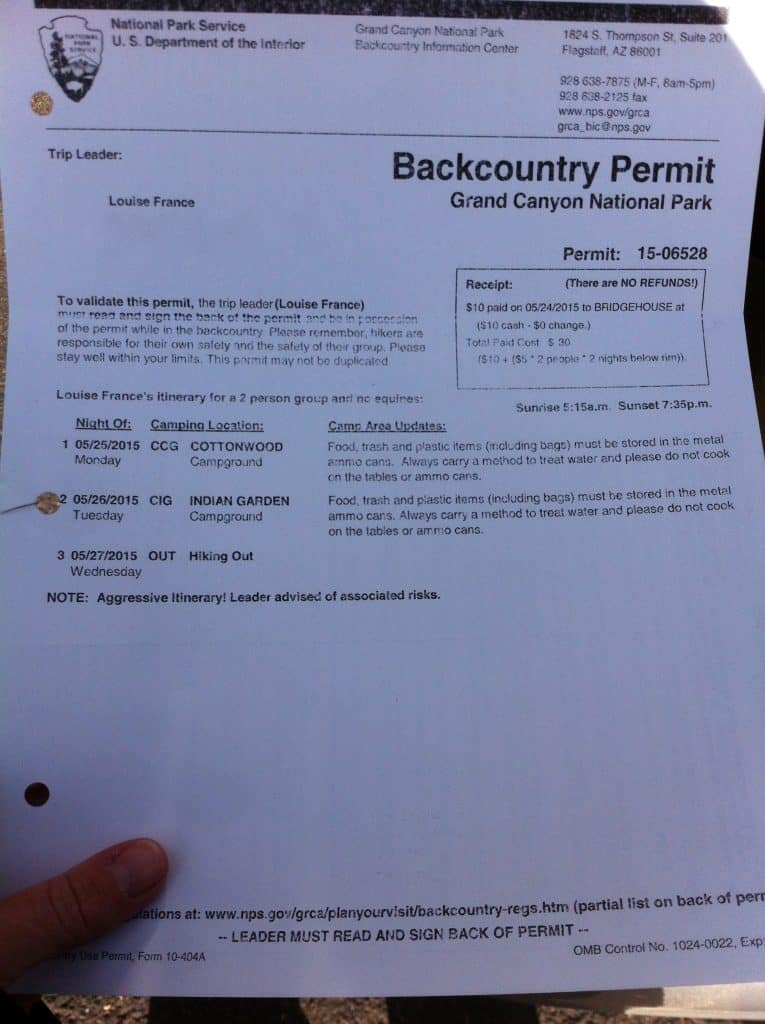 When you hike the grand canyon rim to rim you will need a backcountry permit if you plan to camp overnight in the canyon