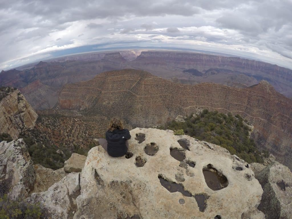 Our Rim to Rim hike of the Grand Canyon starting here at the North Rim