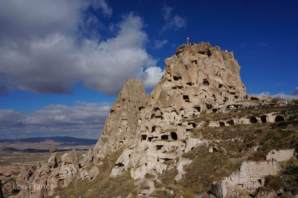 Uchisar Castle is one of the best things to do in Cappadocia