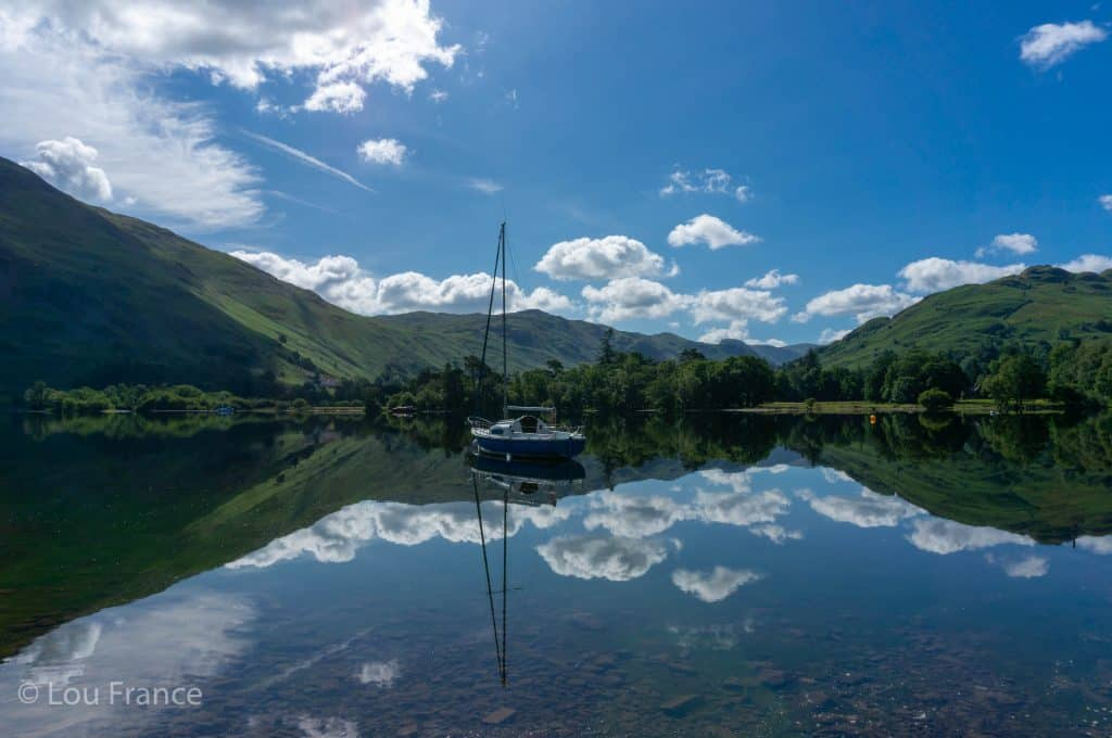 Ullswater Lake in the Lake District. A great start for walking Helvellyn via Striding Edge