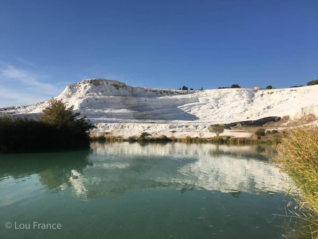 Pumukkale hotsprings is a must on a Turkey road trip from Istanbul to Cappadocia