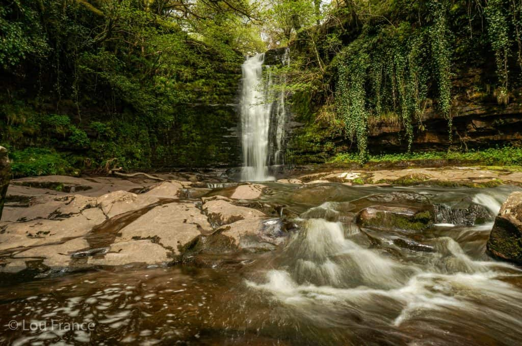 Blaen y Glyn is one of the quieter waterfall areas in the Brecon Beacons