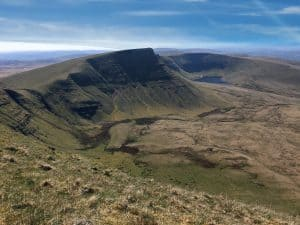 Picws Du mountain and Llyn y Fan Fach lake