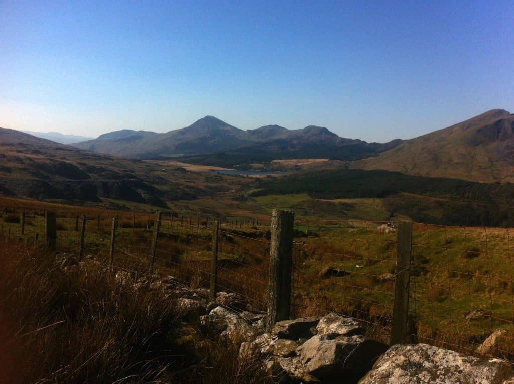 Views on the Snowdon Ranger Path which is a quiet route up Snowdon