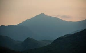 There are many routes up Mount Snowdon in Wales, UK
