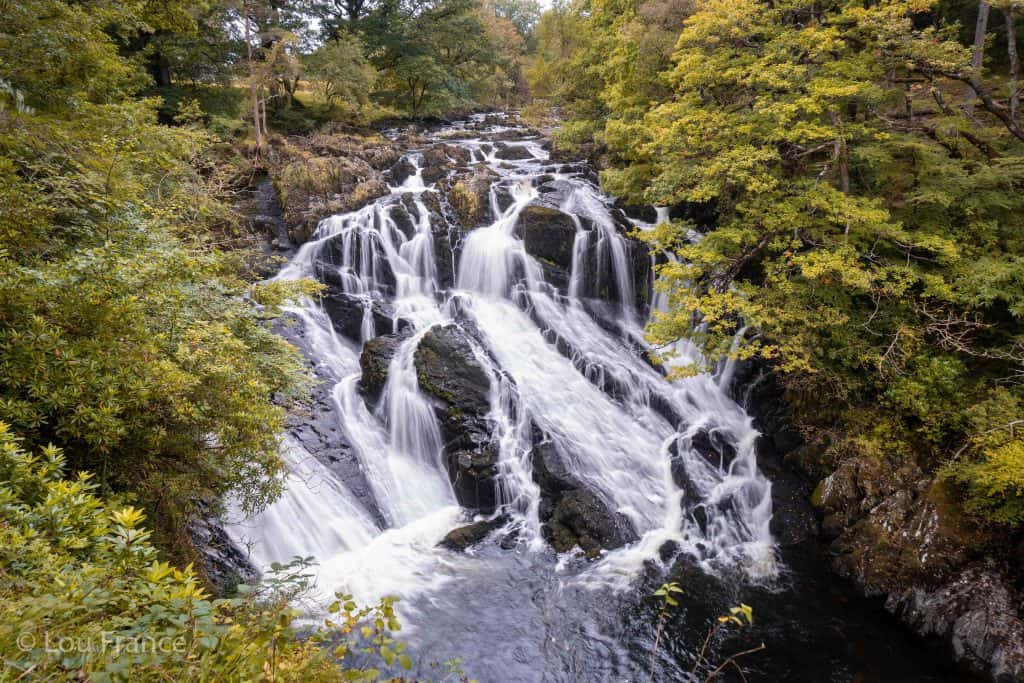 Swallow Falls is one of the easiest waterfalls in Wales to visit